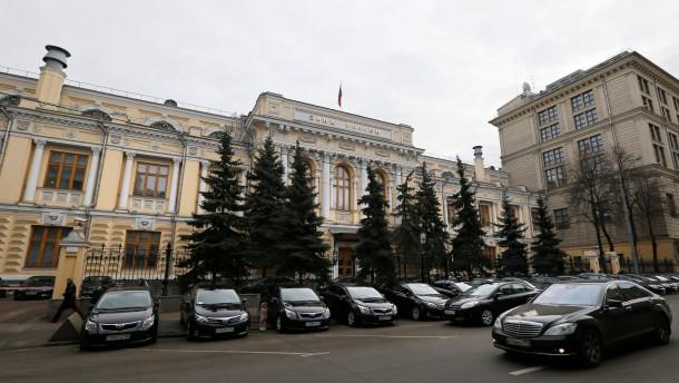 Russische Zentralbank plant Nothilfe für Geldhäuser