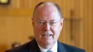 Hat auf dem Höhepunkt der Finanzkrise den Deutschen gesagt, dass ihre Einlagen sicher sind: der frühere Finanzminister Peer Steinbrück