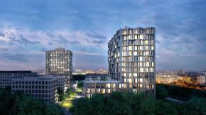 """Werden die Bewohner dieser in München geplanten Wohntürme Freunde, weil sie sich die Dachterrasse teilen? Die Projektentwickler jedenfalls haben das Vorhaben hoffnungsvoll """"Friends"""" genannt."""