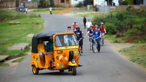 Südafrika begeistert sich für indische Auto-Rikschas