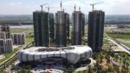 Wollte immer hoch hinaus: Evergrande-Baustelle in Taicang