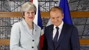 EU-Ratspräsident Tusk gibt May nochmal zehn Tage Zeit