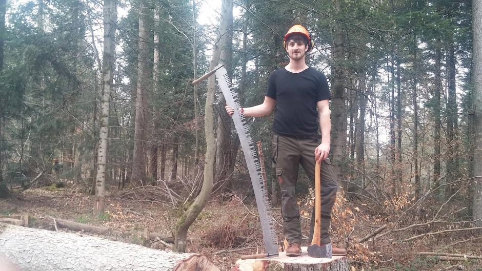 """""""Ich will nicht im Großraumbüro versauern"""", sagt Philipp Gerhardt, Bachelorabsolvent in Forstwirtschaft"""