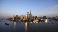 Das Finanzviertel in Schanghai