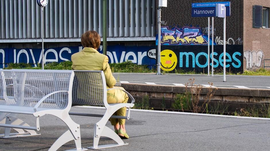 Warten auf die Bahn