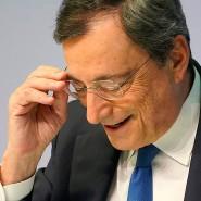 Mario Draghi während seiner letzten Pressekonferenz an diesem Donnerstag.