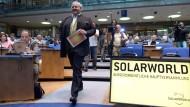 Sonnenkönig unter Druck: Frank Asbeck auf der Hauptversammlung von Solarworld im August