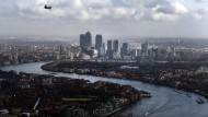 Das Londoner Finanzviertel Canary Wharf