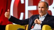 Tim Berners-Lee am 12. März während der Jubiläumsfeier im Forschungszentrum Cern.