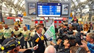 Nun ist es soweit: GDL-Chef Claus Weselsky und seine Lokführer haben den längsten Ausstand aller Zeiten angekündigt. (Archivbild)