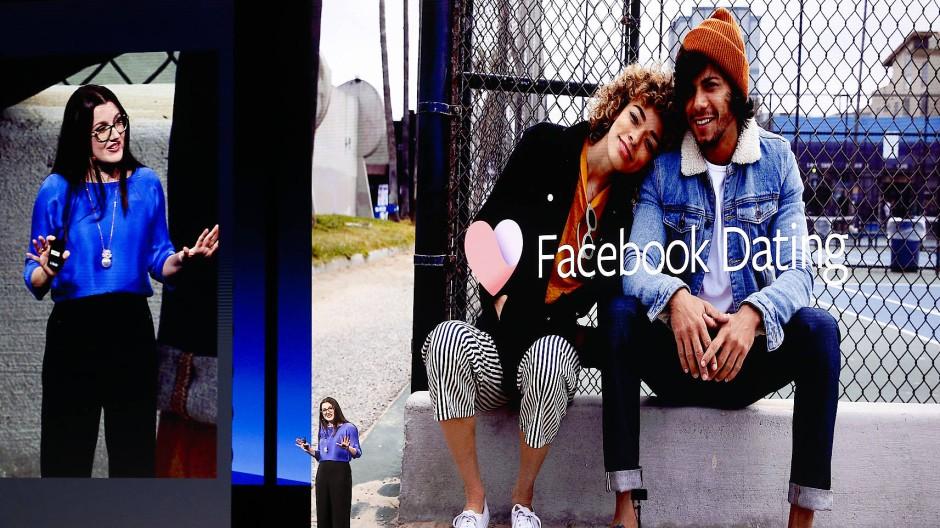 Dacebook-Managerin Fidji Simo bei der Vorstellung von Facebook Dating auf der Entwicklerkonferenz F8