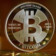 Bitcoins, symbolisch als Münzen dargestellt