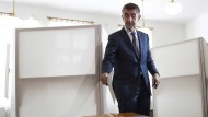 Favorit bei der Stimmabgabe: Andrej Babiš könnte neuer Regierungschef werden.