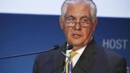 Stand damals an der Spitze von Exxon Mobil: Rex Tillerson, der heutige amerikanische Außenminister.