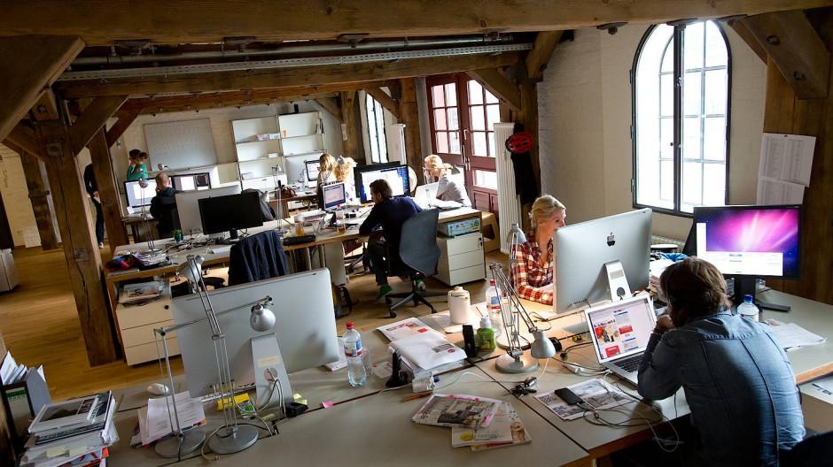 """Mitarbeiter der Werbeagentur """"Philipp und Keuntje"""" in der Hamburger Speicherstadt (ein Bild aus 2013)"""