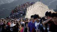 Auf der chinesischen Mauer: Die Spannung zwischen Peking und Washington wächst offenkundig.