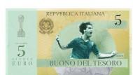 Propaganda gegen Deutschland: Ein Entwurf für einen Schuldschein zeigt Marco Tardelli, der Italien 1982 im WM-Finale gegen Deutschland zum Titel schoss.