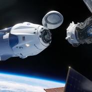 So soll das funktionieren: Die Dragon-Kapsel dockt an der Raumstation ISS an