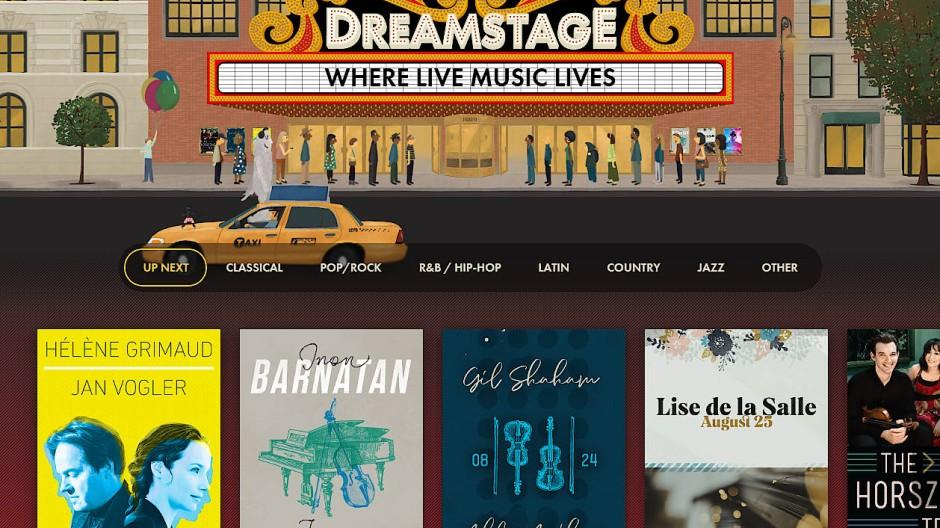 Die Startseite von Dreamstage