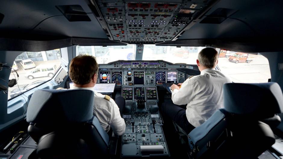 Blick in ein A380-Cockpit