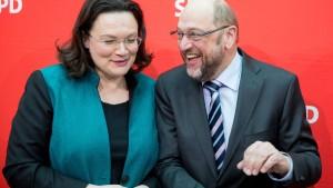 Nahles nennt Kritiker der SPD-Pläne von gestern