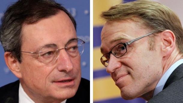2er Combo / Mario Draghi und Jens Weidmann