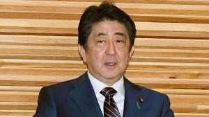 Shinzo Abe stolpert über falsche Zahlen