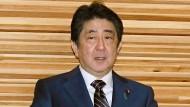 Japans Regierungschef Shinzo Abe ist seit dem Jahr 2012 im Amt.