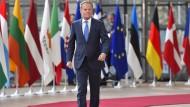 EU-Ratspräsident Donald Tusk im Vorfeld des Sondergipfels