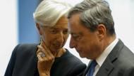 Kennen sich: Christine Lagarde und Mario Draghi