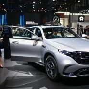 Der EQC auf der Automesse in Peking im September 2020