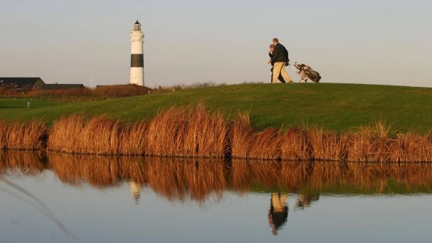 Golfer auf dem Golfplatz von Kampen auf Sylt