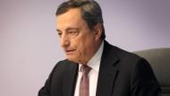 Vor einem großen Auftritt: EZB-Präsident Mario Draghi übergibt bald an Christine Lagarde.
