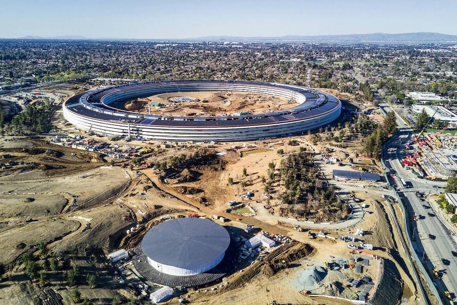 Runde Sache: Apple hat beim Bau seiner neuen Zentrale geklotzt.