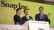 Börsendebüt gelungen: Snap wird auf dem Kapitalmarkt nun mit mehr als 30 Milliarden Dollar bewertet.