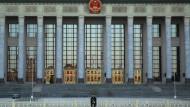Abgeriegelter Ort des Geschehens: Große Halle des Volkes in Peking.