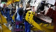Die Produktion des 3er BMW in München steht derzeit still.