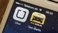 Taxi-Konkurrent Uber bleibt in Berlin verboten