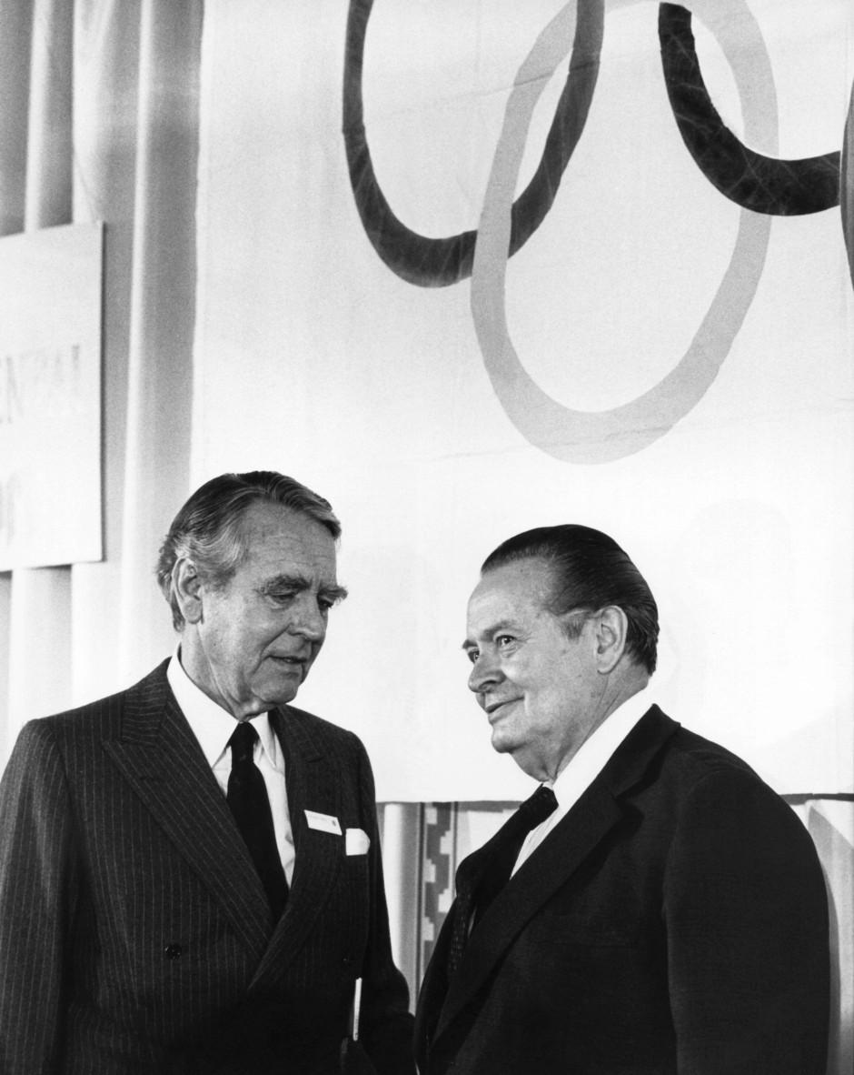 Im Gespräch mit Willi Daume 1980 in Düsseldorf