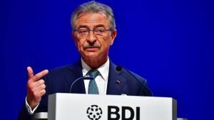 BDI-Chef Kempf hinterfragt deutschen Handelsüberschuss