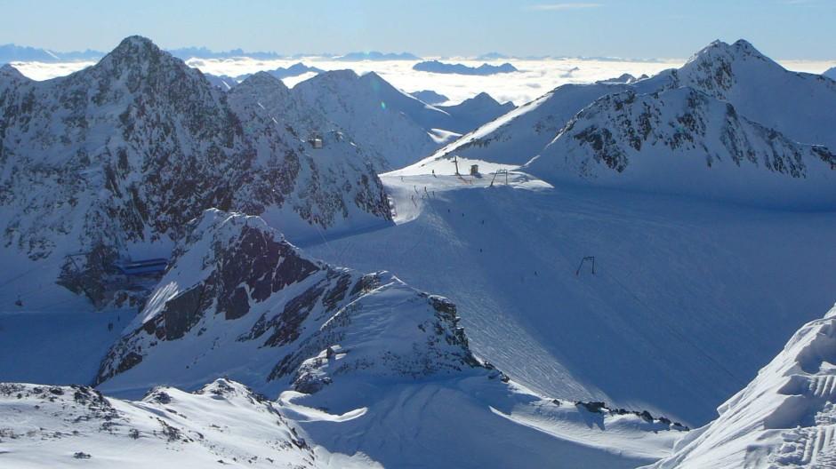 Der Stubaier Gletscher in Tirol