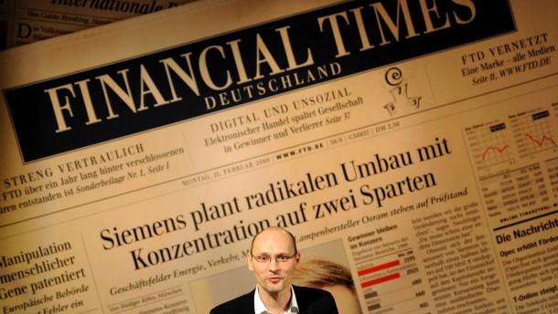 """Gruner + Jahr stellt """"Financial Times Deutschland"""" ein"""