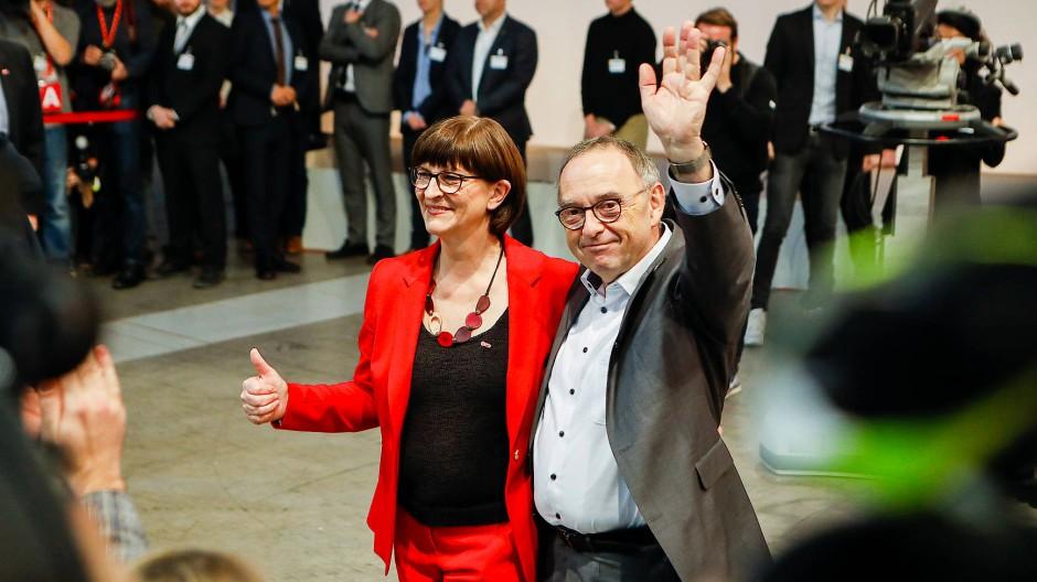 Wann wir schreiten Seit' an Seit': Saskia Esken und Norbert Walter-Borjans