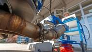 Am Prüfstand: Bosch misst, was in den Abgasen seines Dieselmotors steckt.