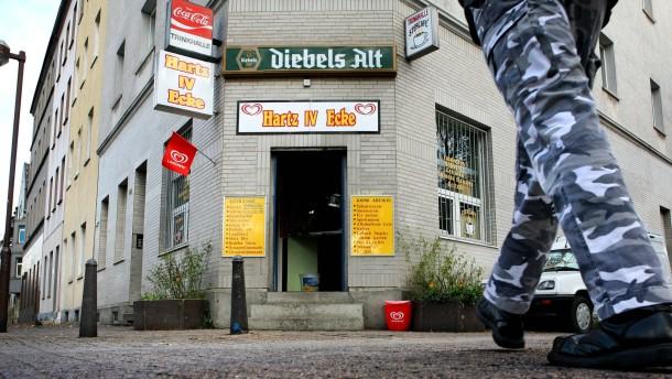 "Kiosk ""Hartz IV Ecke"" in Duisburg"