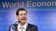 Maurice Obstfeld ist Chefvolkswirt des Internationalen Währungsfonds. Einen Namen gemacht hat er sich durch seine Forschung zu internationalen Wirtschaftsbeziehungen und Finanzkrisen.