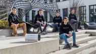 TUM Boring (v.l.n.r.): Haokun Zheng, Elias Schmid, Max Herbst, Marvin von Hagen und Kilian Schmid