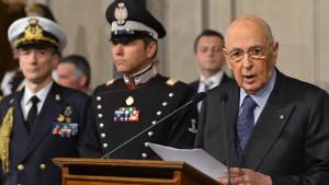 Auch Napolitano löst den Knoten vorerst nicht