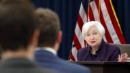 Amerikas Notenbank-Chefin Janet Yellen während der Pressekonferenz nach der Fed-Sitzung im September.