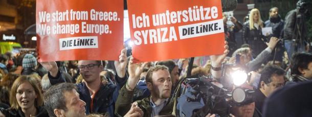 Einen Ableger des griechischen Links-Bündnisses Syriza gibt es auch in Deutschland.